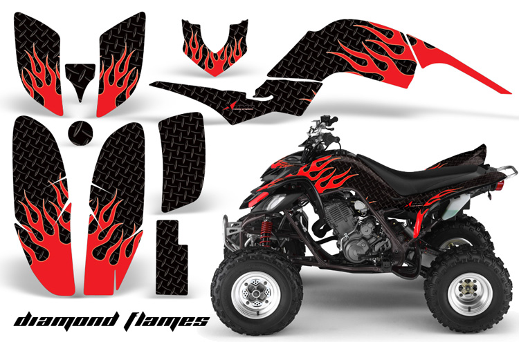 Yamaha Raptor 660 Diamond Flames Design