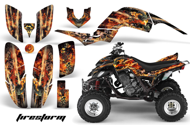Yamaha Raptor 660 Firestorm - Black Design
